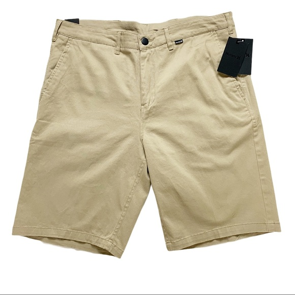 """Hurley One and Only Regular Fit 21"""" Khaki Shorts"""